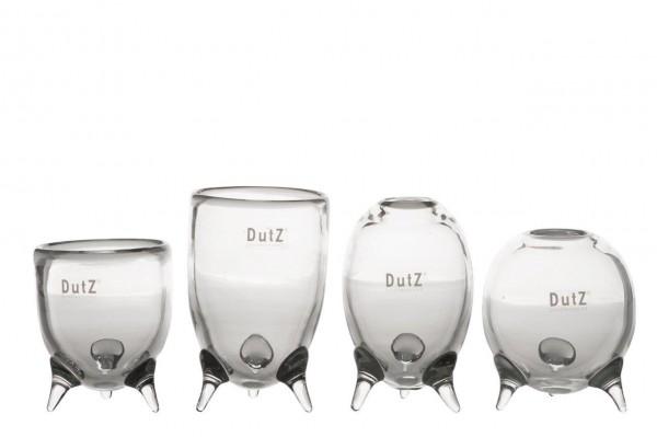 DutZ Evita - Glasvasen auf 3 Füssen Clear