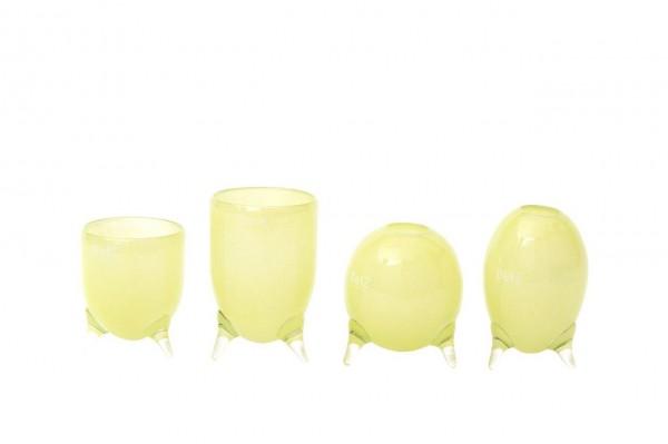 DutZ Evita-Glasvasen auf 3 Füssen Lightgreen