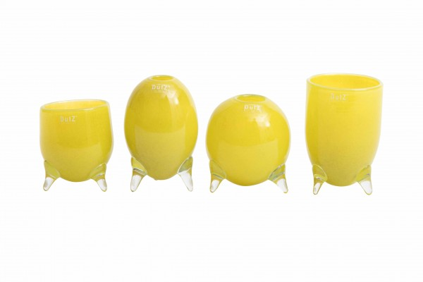 DutZ Evita - Glasvasen auf 3 Füssen Yellow