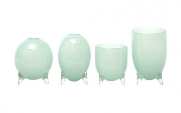 DutZ Evita-Glasvasen auf 3 Füssen Paleblue